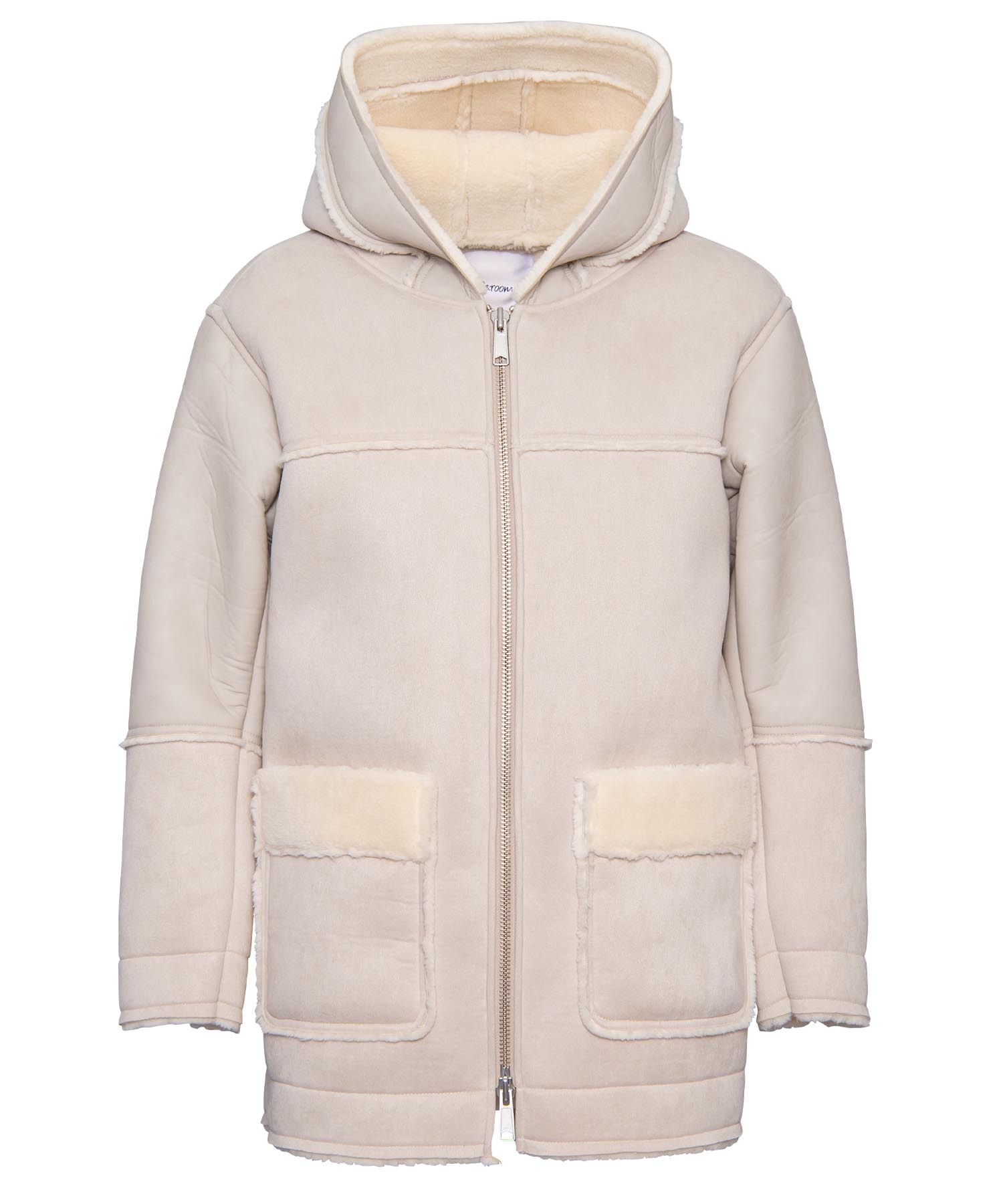 FAKE MOUTON LONG ZIP PARKA[REJ054]