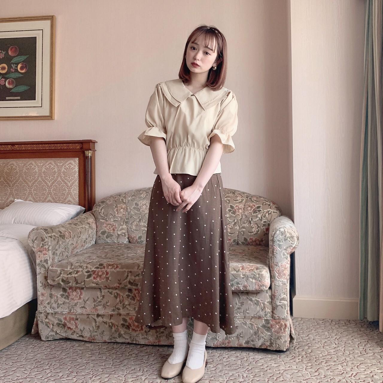 【meltie】latte collar blouse