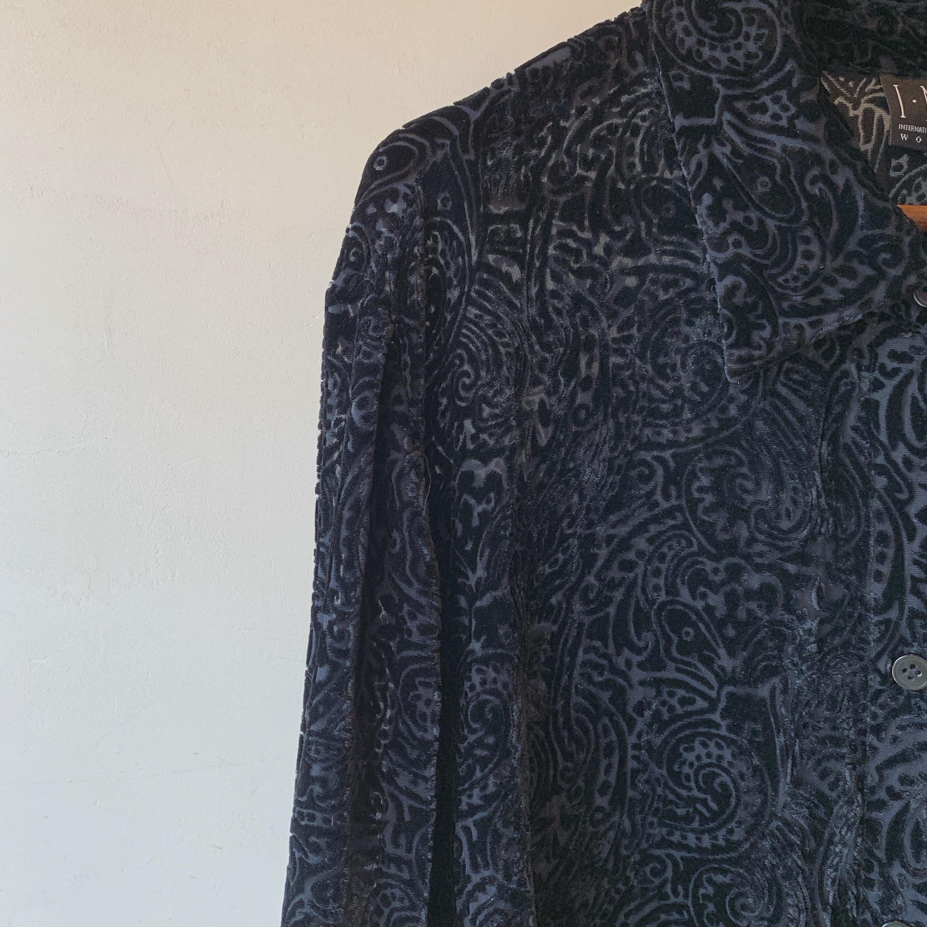 vintage paisley blouse