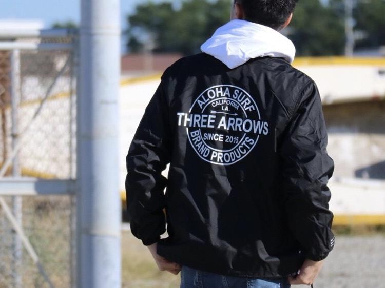 THREEARROWS BP コーチジャケット (black)