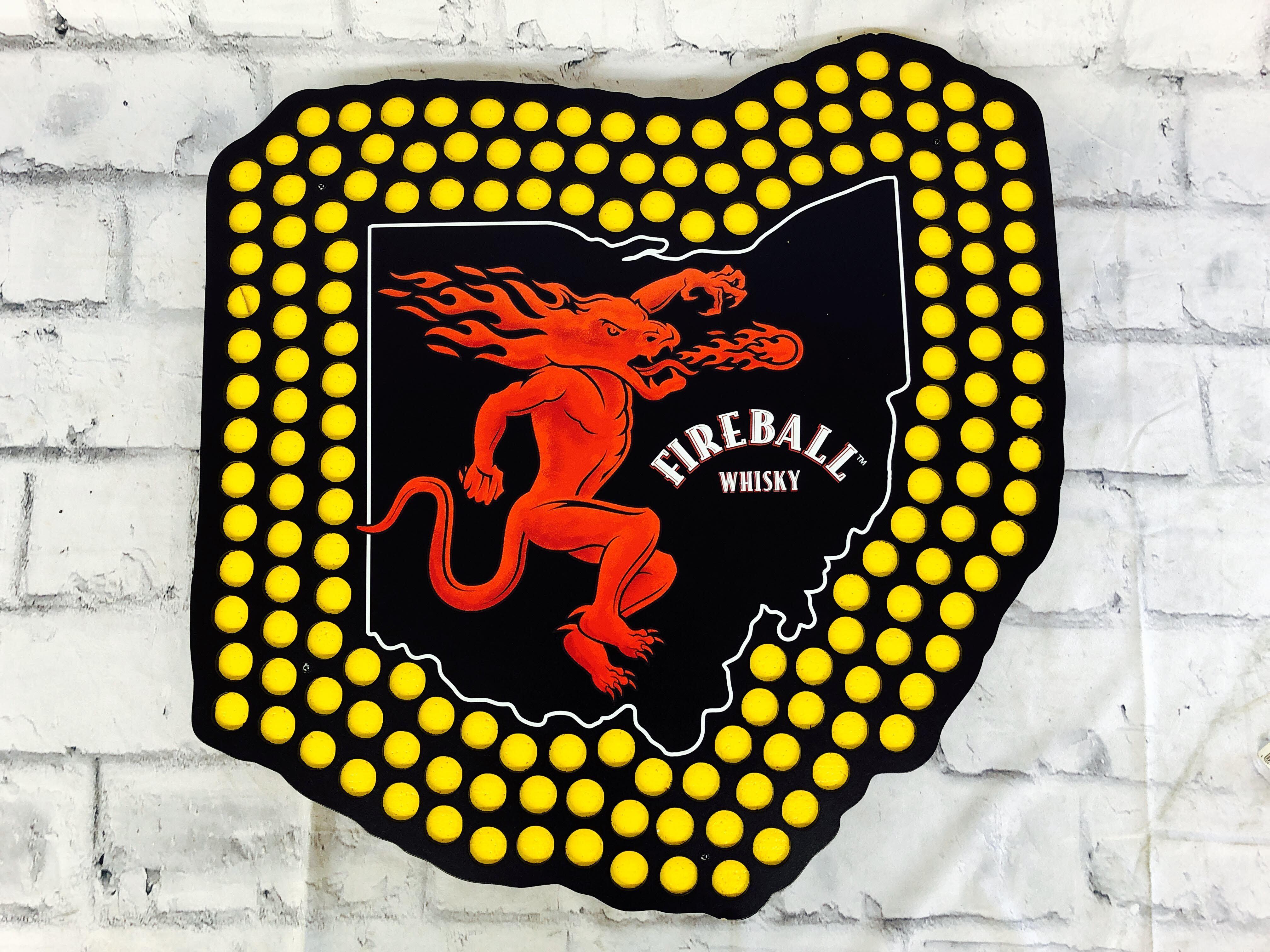 品番0323 サインボード 『FIREBALL(ファイヤーボール)』 壁掛 看板 011