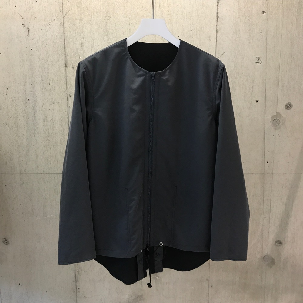 meanswhile Water-repellent/Coolmax Reversible 4Way Shirts JKT/STEEL×NAVY