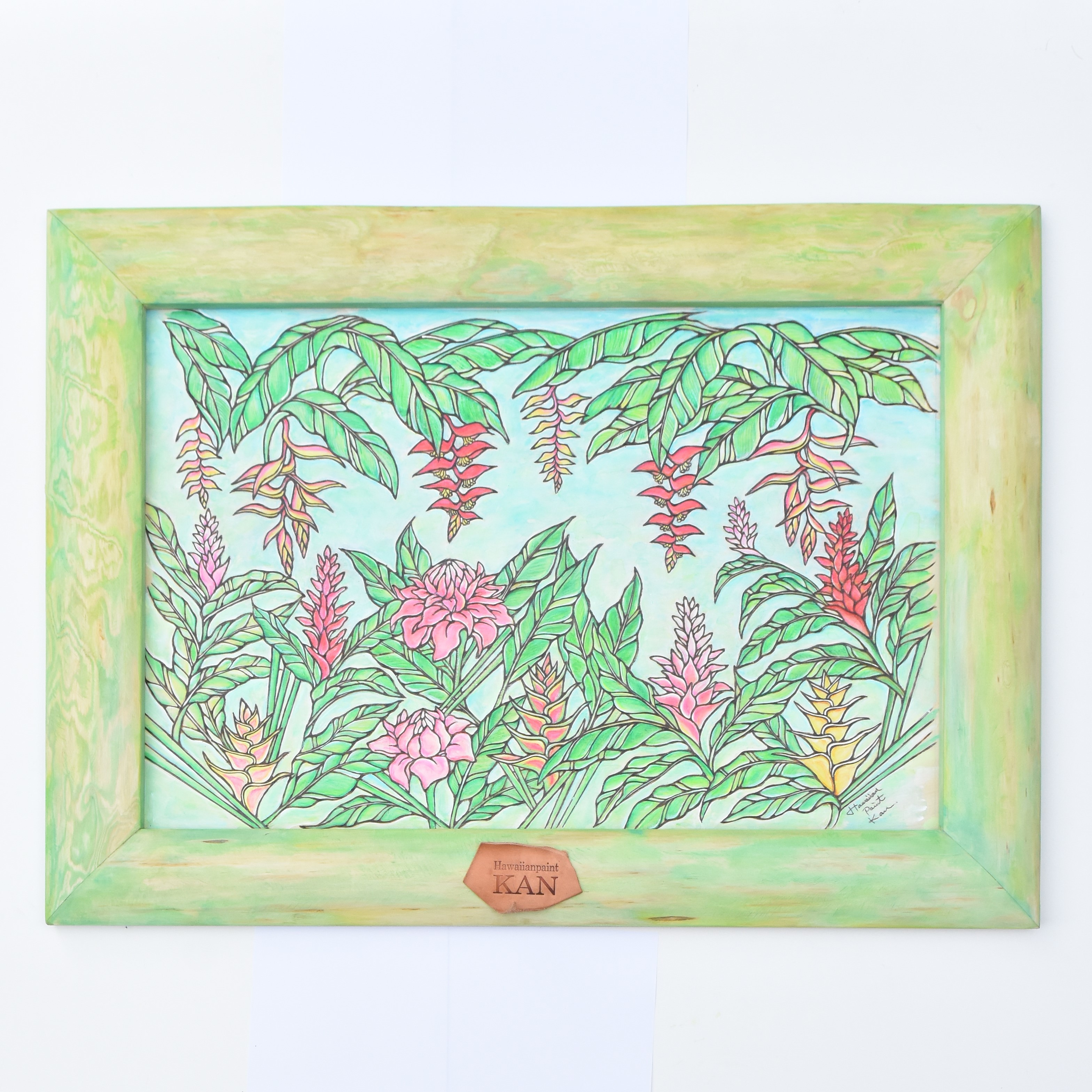 Art  【Tropical flowers / Green flame】