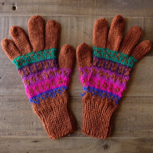 ペルーのアルパカ手袋 /bp22c/ PERU