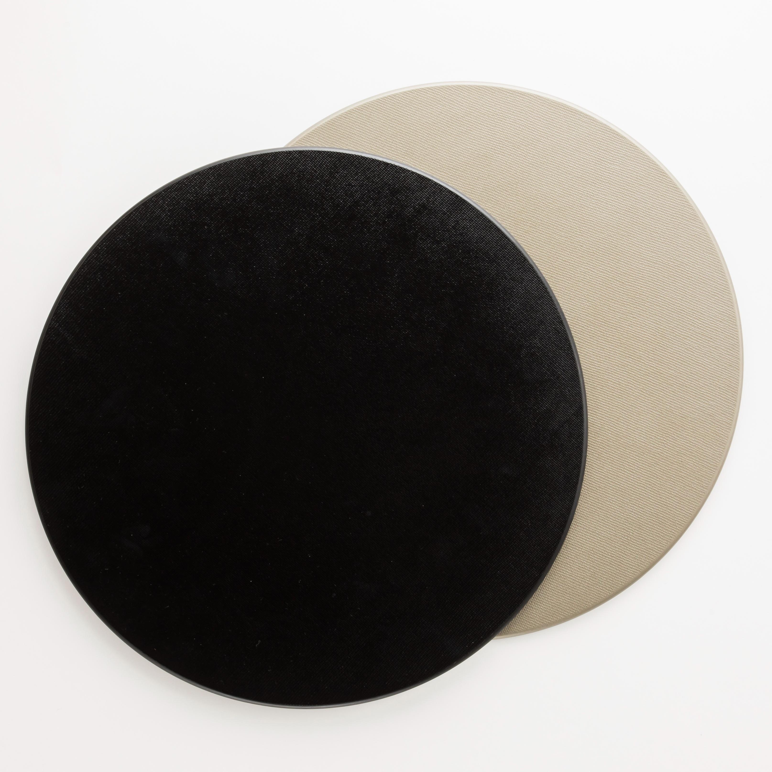 12.0丸マット 両面布貼 銀・黒