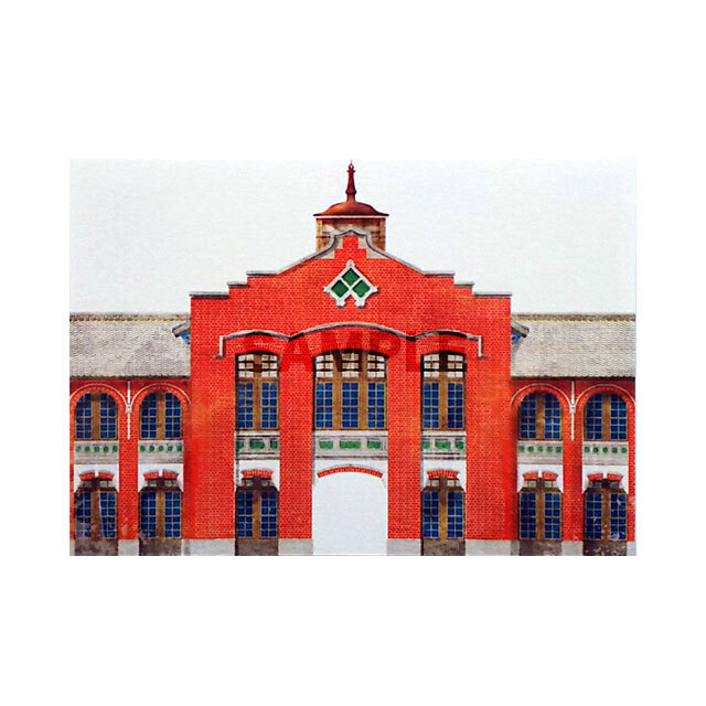 台湾ポストカード 地方小風景 「台北市立大平国民小学」