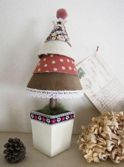 クリスマスツリー*ナチュラル・レトロ ピンク/セレクト雑貨