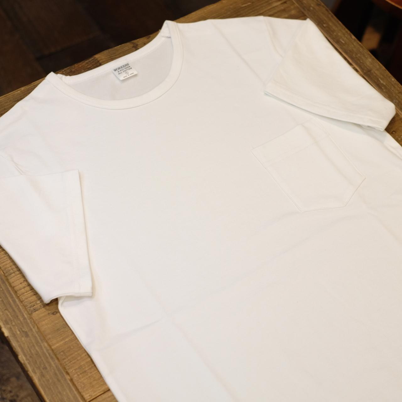 Workers(ワーカーズ) CIRCLE別注 3PLY ポケットTシャツ ホワイト