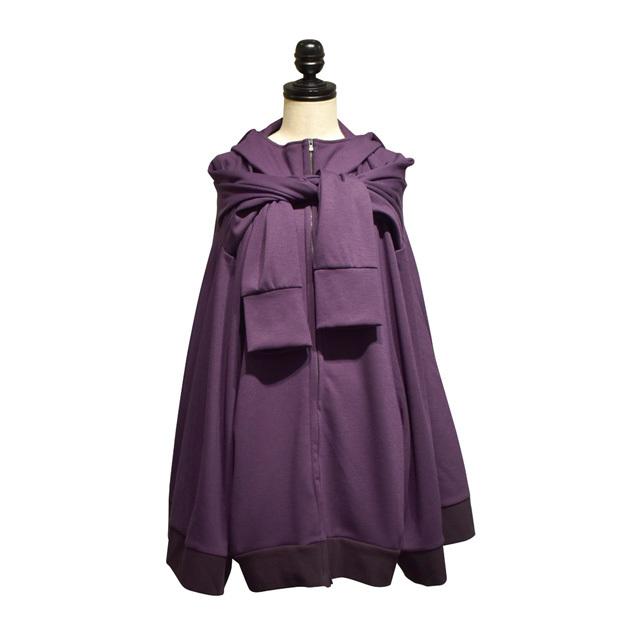 -niitu- / イカ頭巾パーカー / Violet