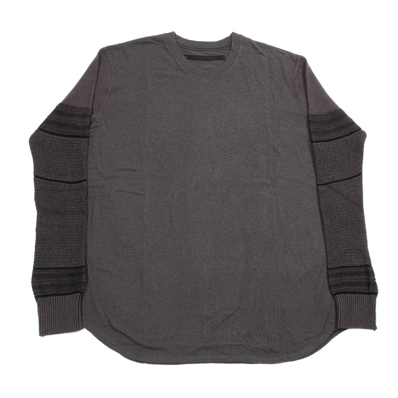 717CUM8-SLATE / ニットスリーブ Tシャツ