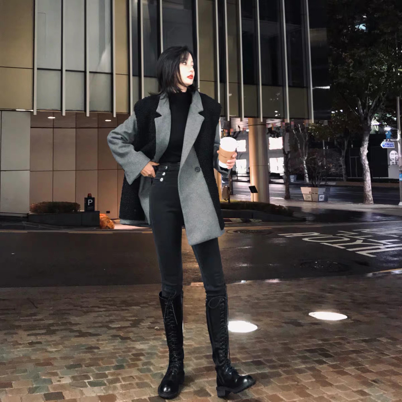 vest gray jacket 2peace