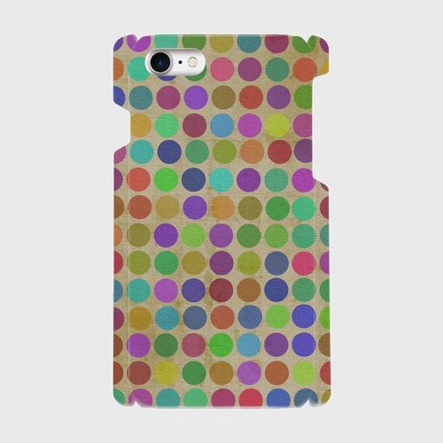 レトロ水玉 / iPhoneスマホケース(ハードケース)