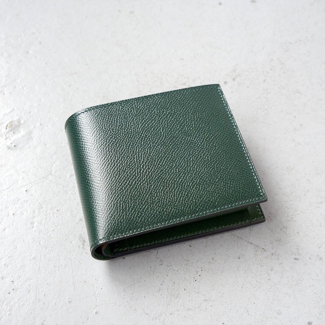 二つ折財布 <Regulus> ダークグリーン