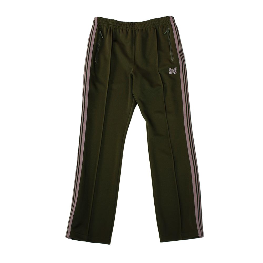 NEEDLES Narrow Track Pant - Poly Smooth Khaki