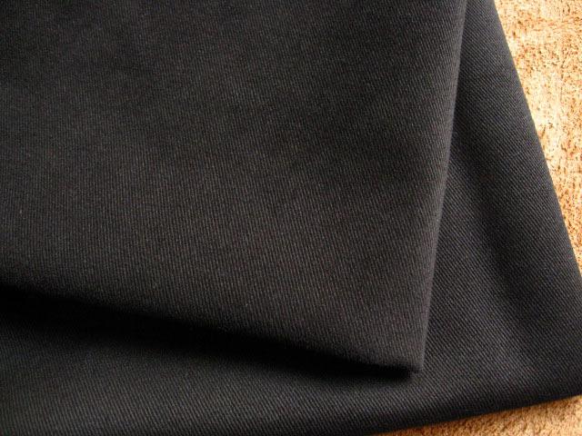 綿ツイル、グリストーン+微起毛加工 ブラック CTM-0052