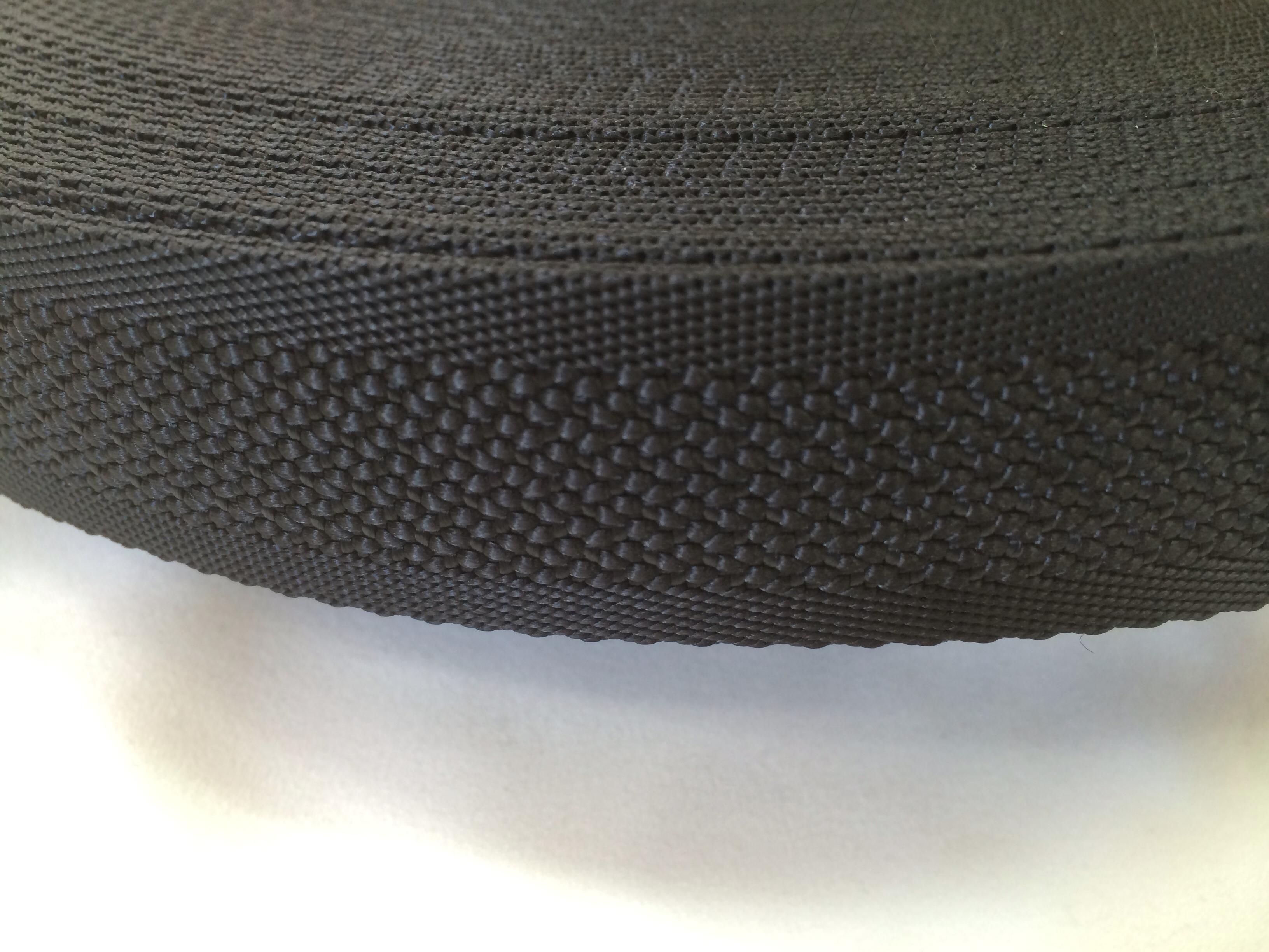 ナイロンテープ  中乱織  30mm幅  1.5mm厚 黒 1m