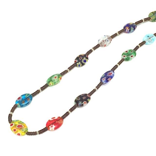 acc-019 ベネチアングラスのネックレス