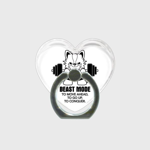 【BEASTMODE】ハート型 スマホリング モノクロシリーズ チワワ