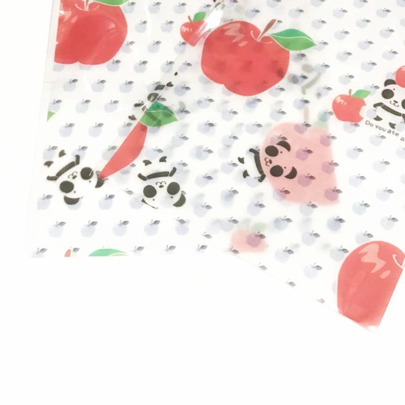 ラッピング袋 Sサイズ★ホワイト*ズレぱんだちゃんのリンゴ食べたの誰?15WRwr03