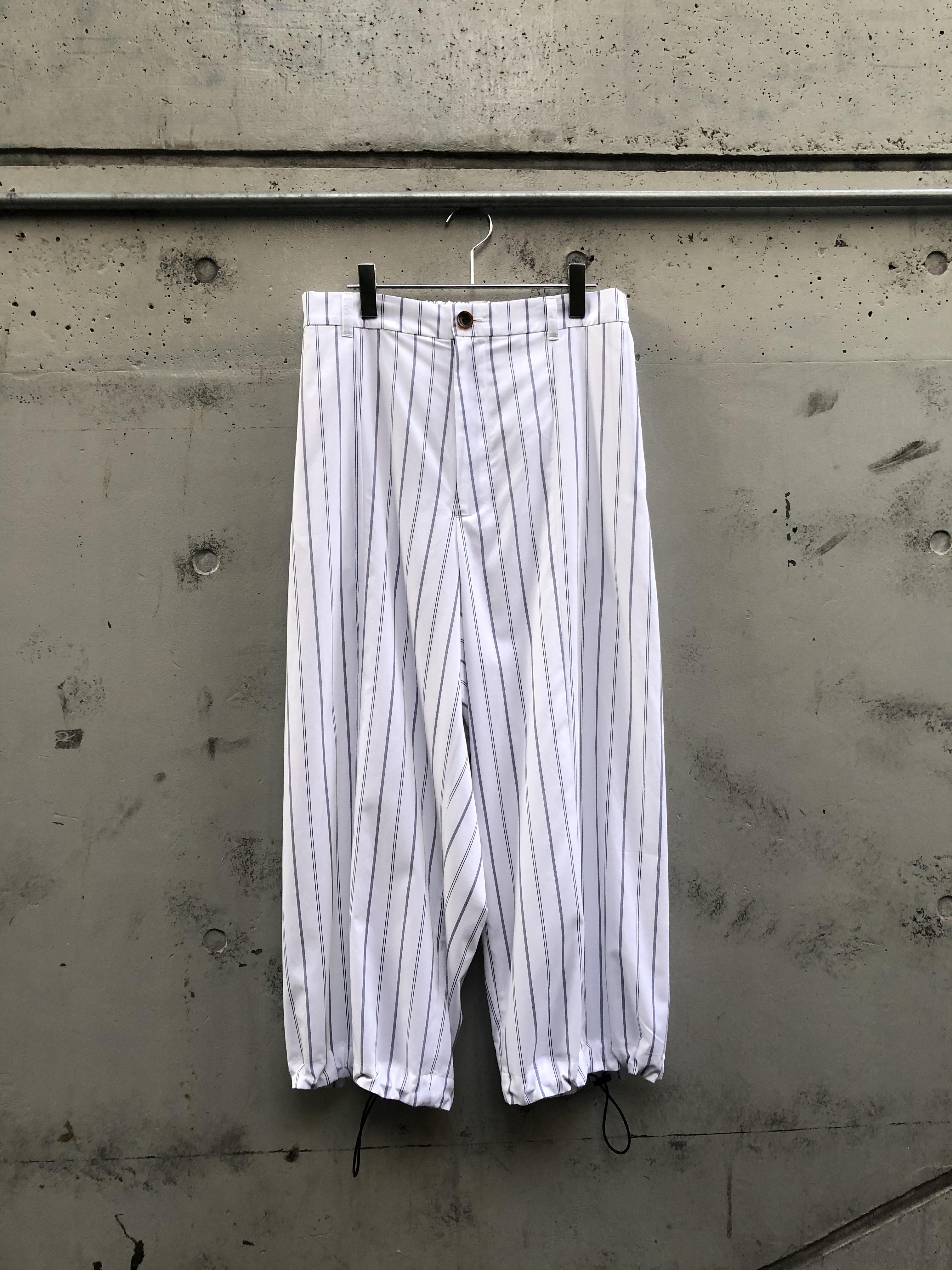 『my beautiful landlet』typewriter stripe wide pants/WHITE SIZE 1