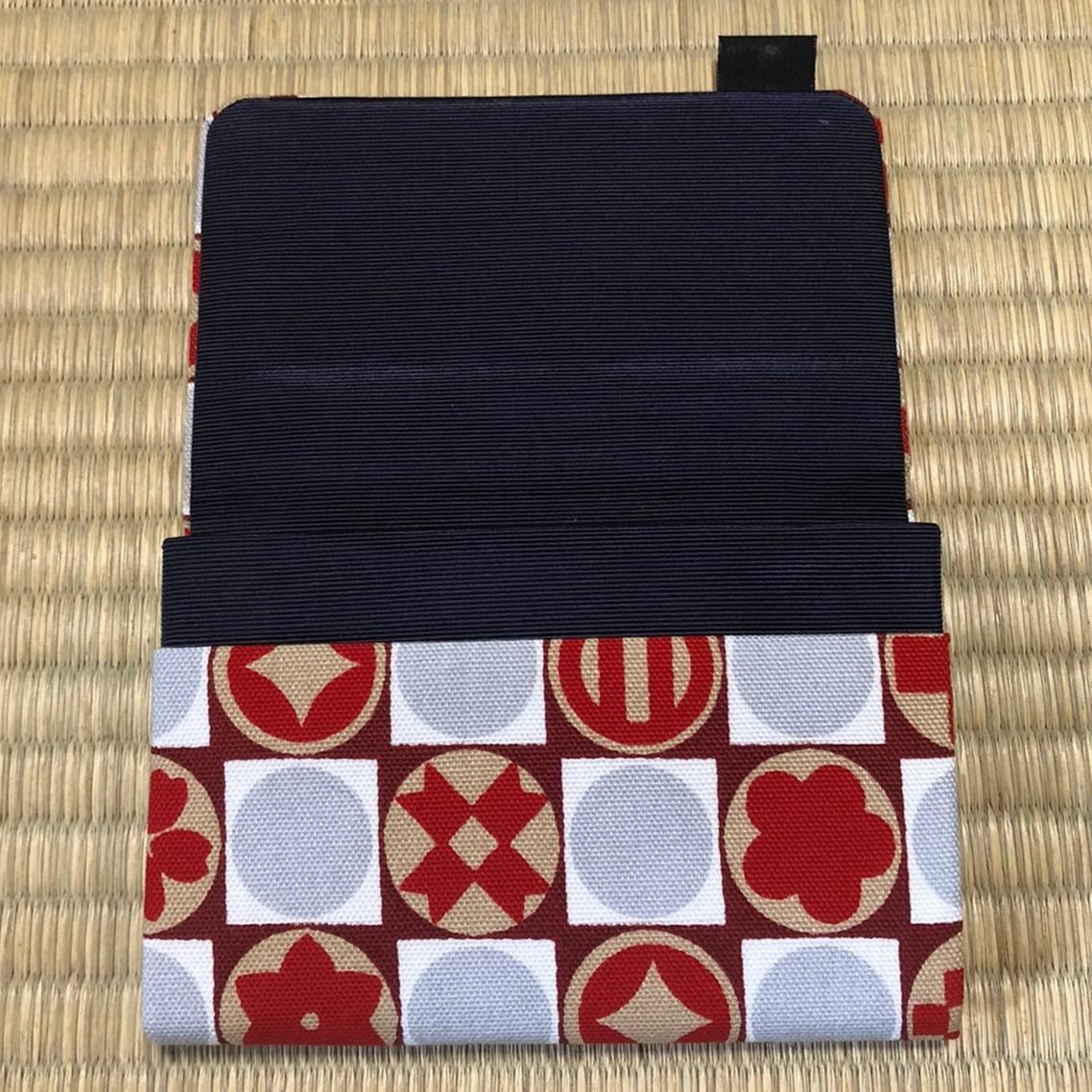 家紋柄のカードケース