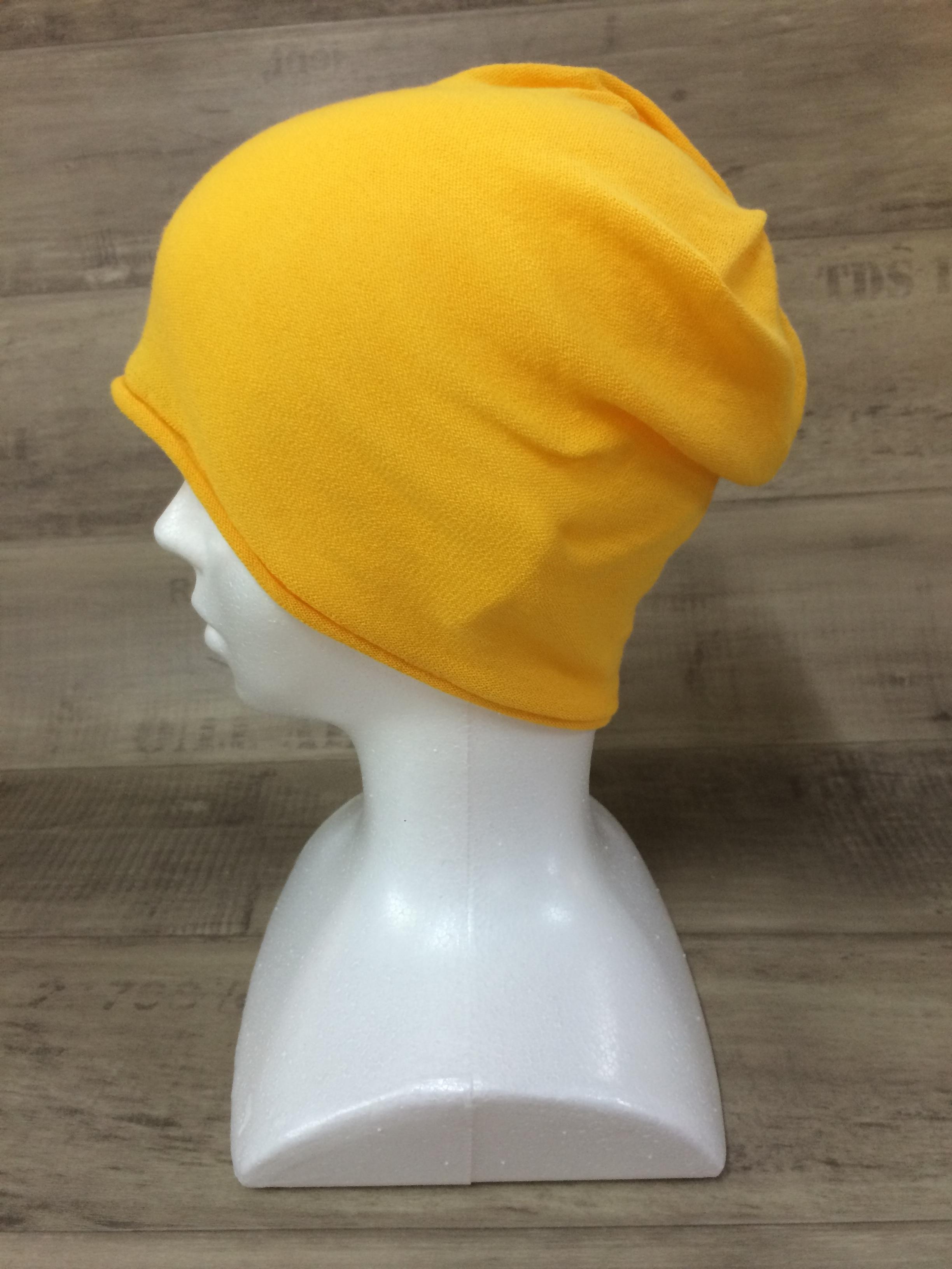【送料無料】こころが軽くなるニット帽子amuamu|新潟の老舗ニットメーカーが考案した抗がん治療中の脱毛ストレスを軽減する機能性と豊富なデザイン NB-6060|山吹色(やまぶきいろ)