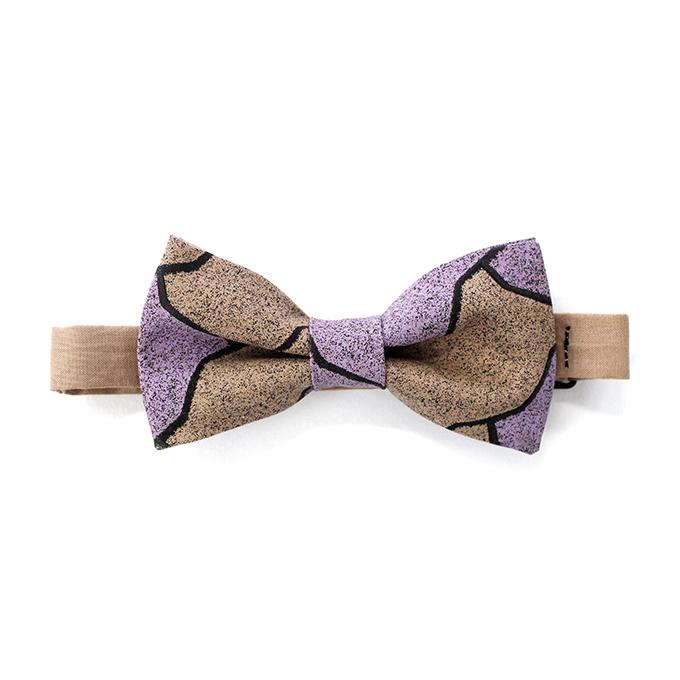蝶ネクタイ ブロック柄