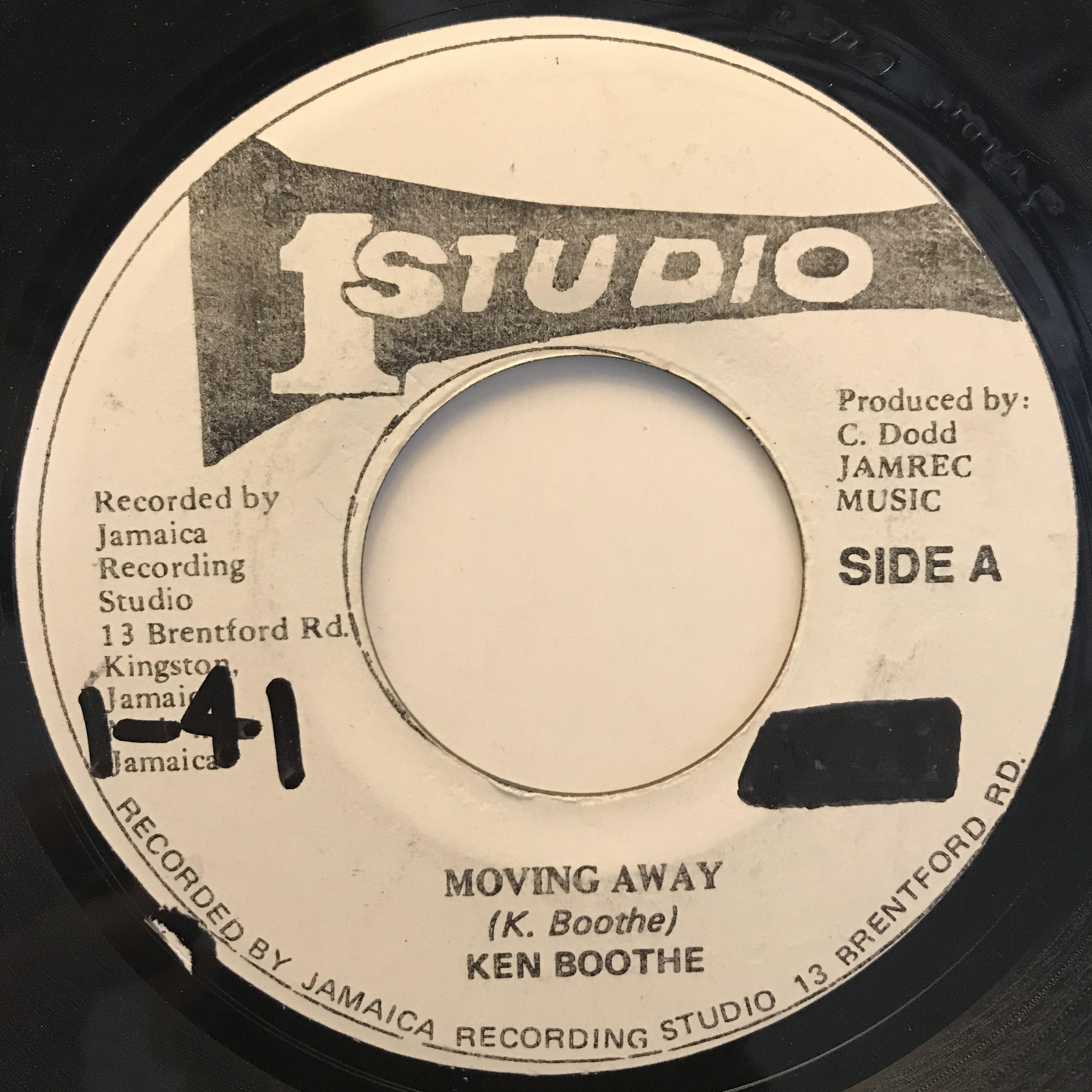 Ken Boothe(ケンブース) - Moving Away【7-10807】