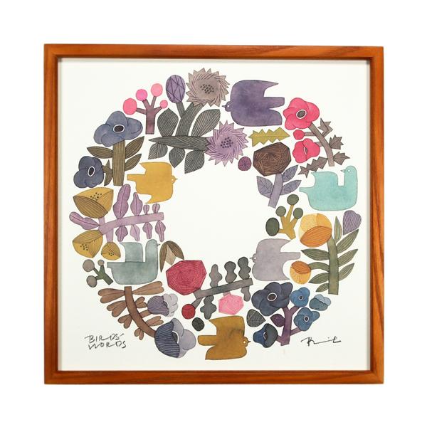 BIRDS' WORDS Poster 30 Shabby Wreath 額装タイプ