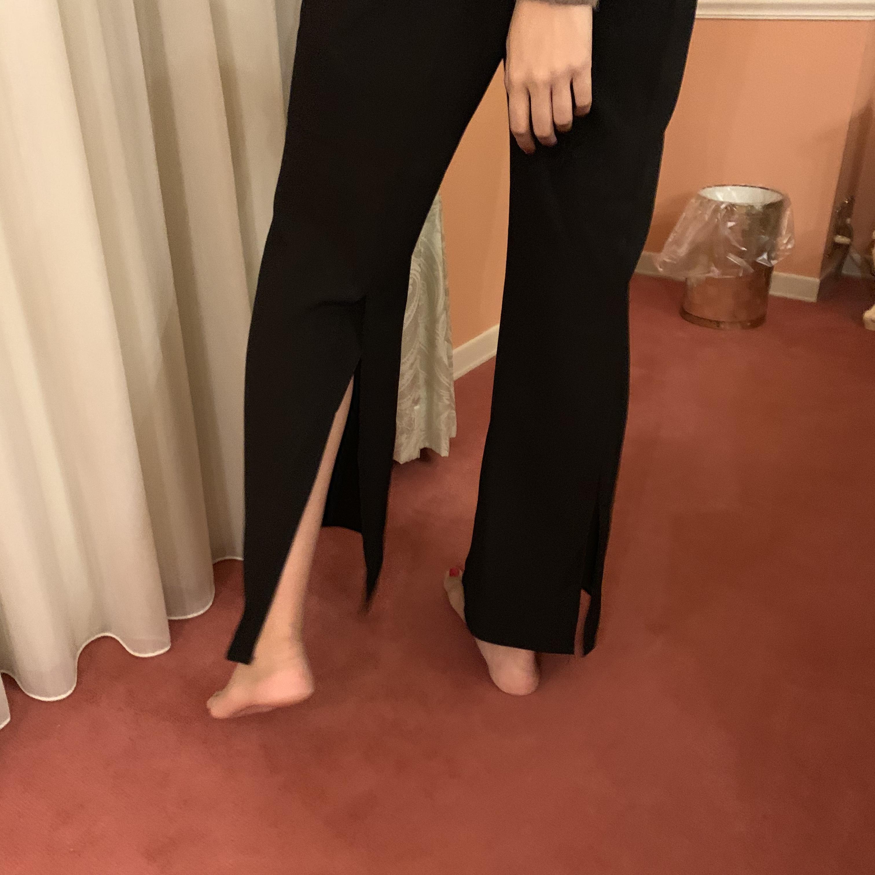 back slit pants