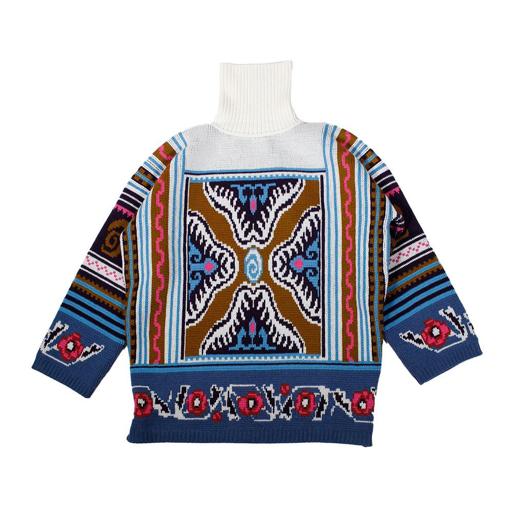 COOL TM Hi Neck Knit Tops