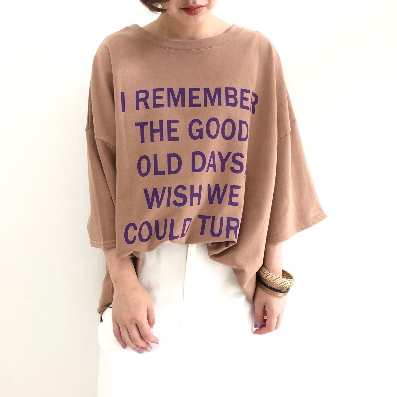 【 CHIGNONSTAR 】- 8192-026KK - 2WAYプリントTeeシャツ