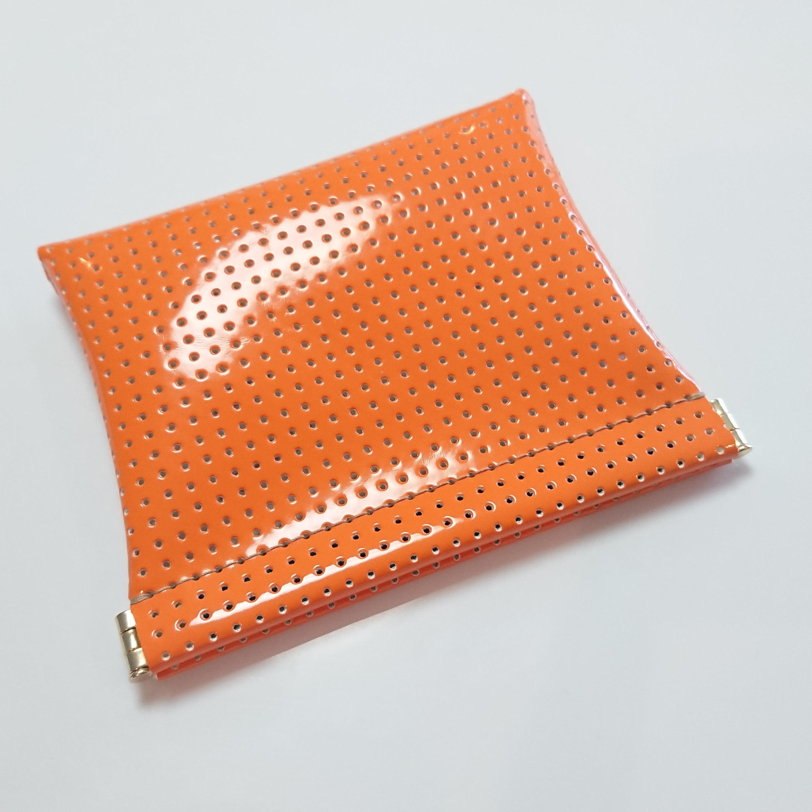 OSORO ポーチ ☆ みかん 薄い財布 ティーケース