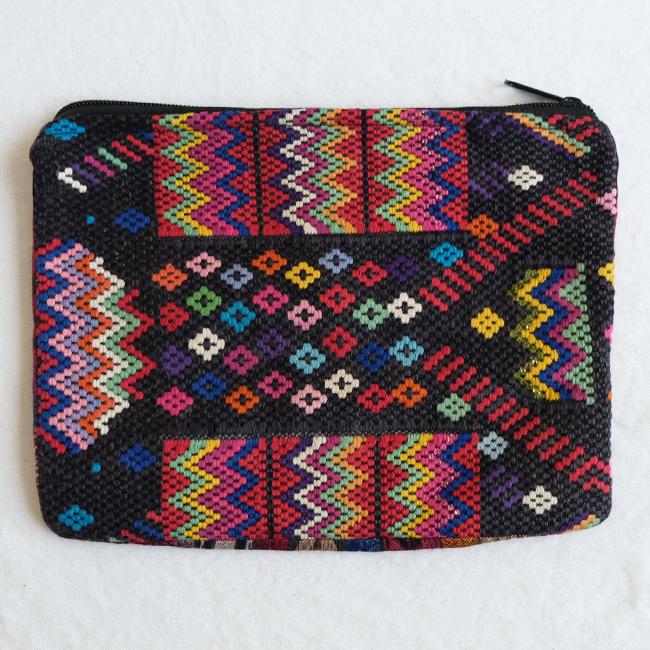 民族衣装の織りウィピルポーチ /231c/ GUATEMALA グアテマラ