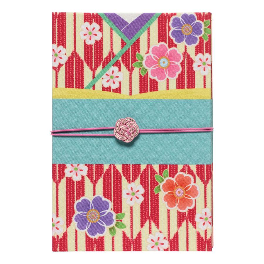 【集印帳】 はんなり着物 矢絣に桜(やがすりにさくら)