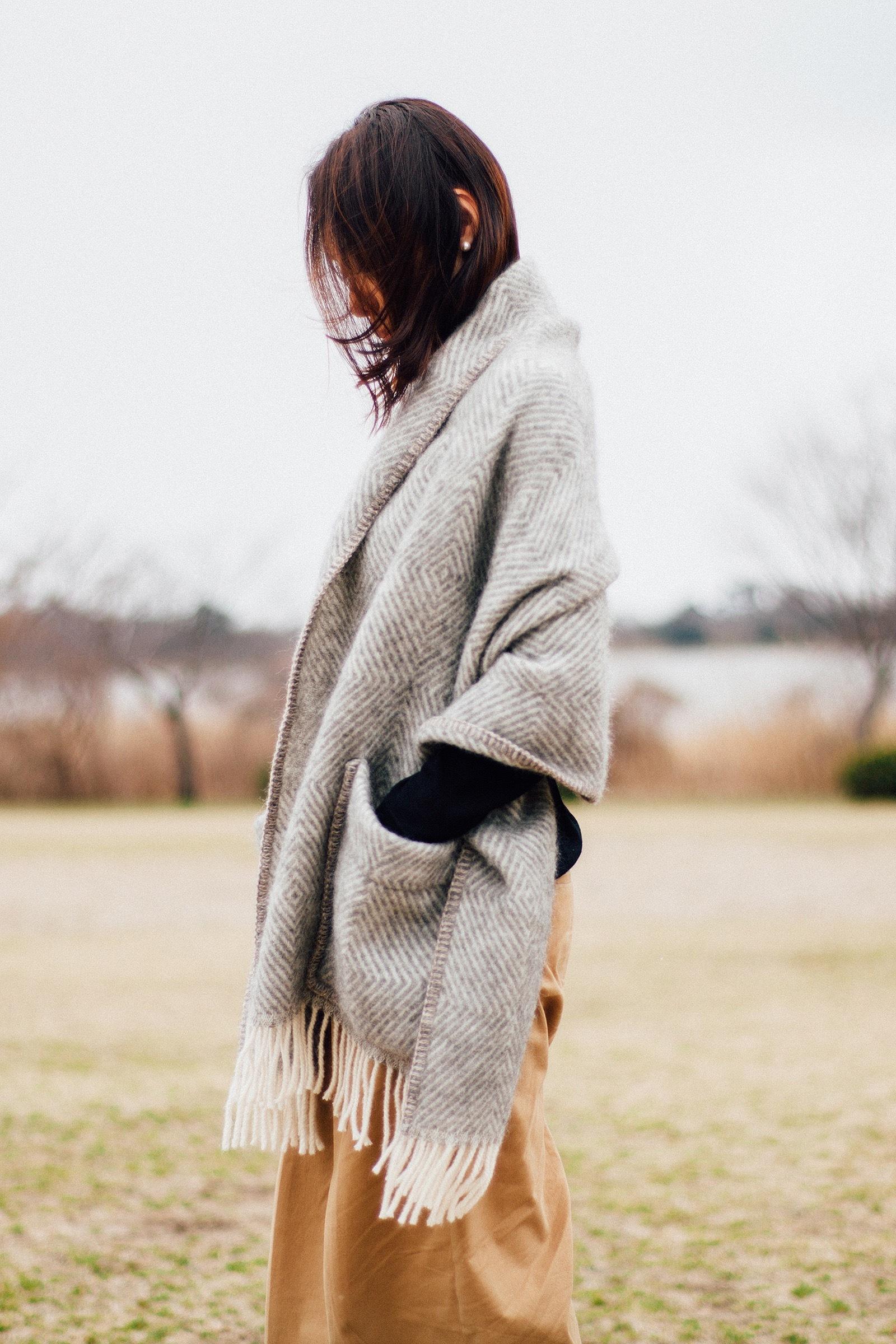 【LAPUAN KANKURIT(ラプアンカンクリ)】 MARIA ポケットショール【送料無料・ラッピング無料】