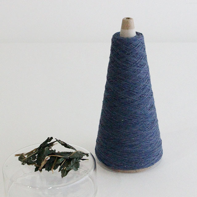 【天然草木染・藍染 (BL)】綿糸 (50g)