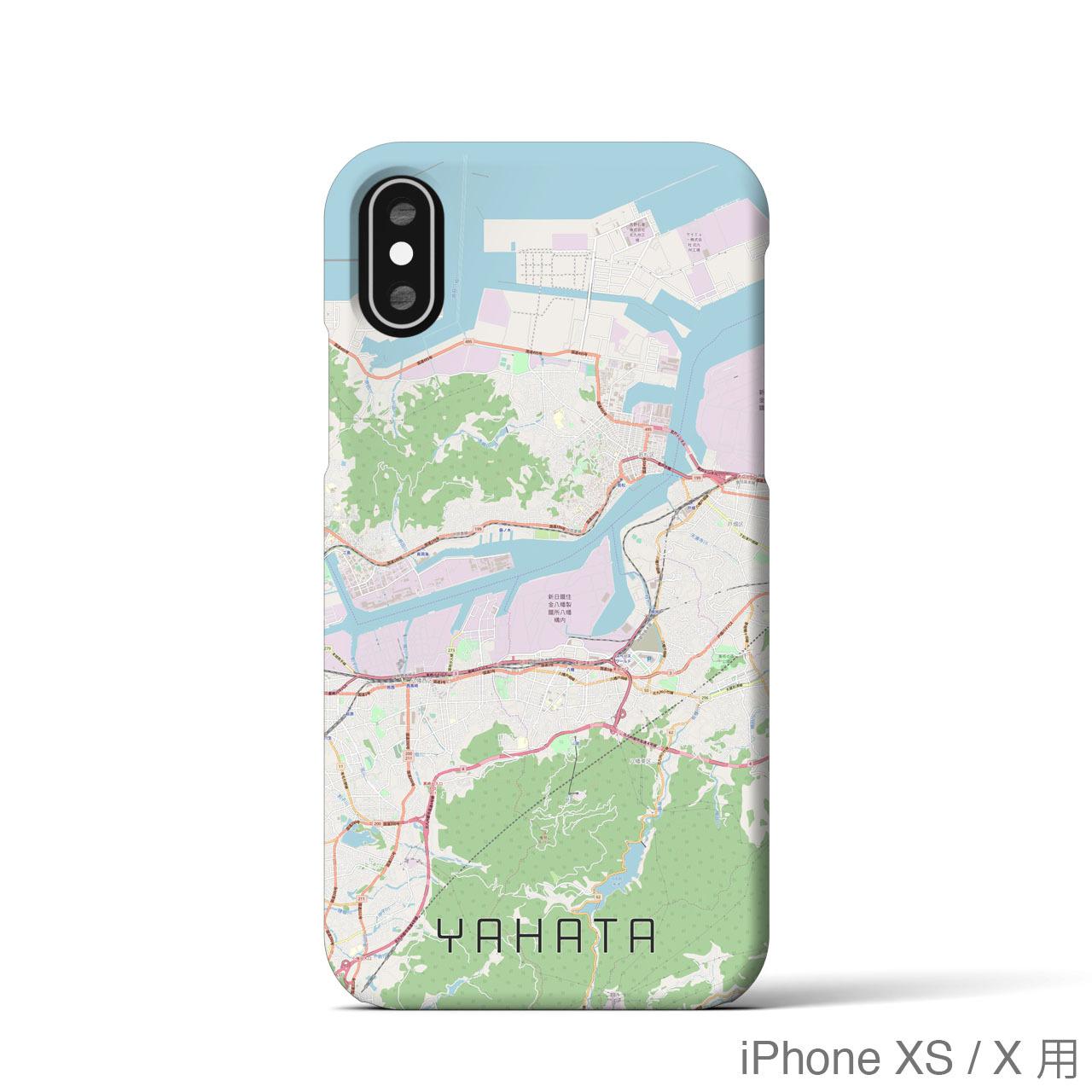【八幡】地図柄iPhoneケース(バックカバータイプ・ナチュラル)