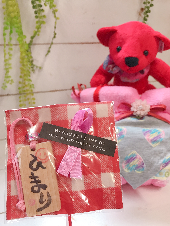名入れ キーホルダー付き (四角タイプ) クマさん おむつバイク(レッド) おむつケーキ  出産祝い ギフト オシャレ 個性的  かわいい  キャラクター