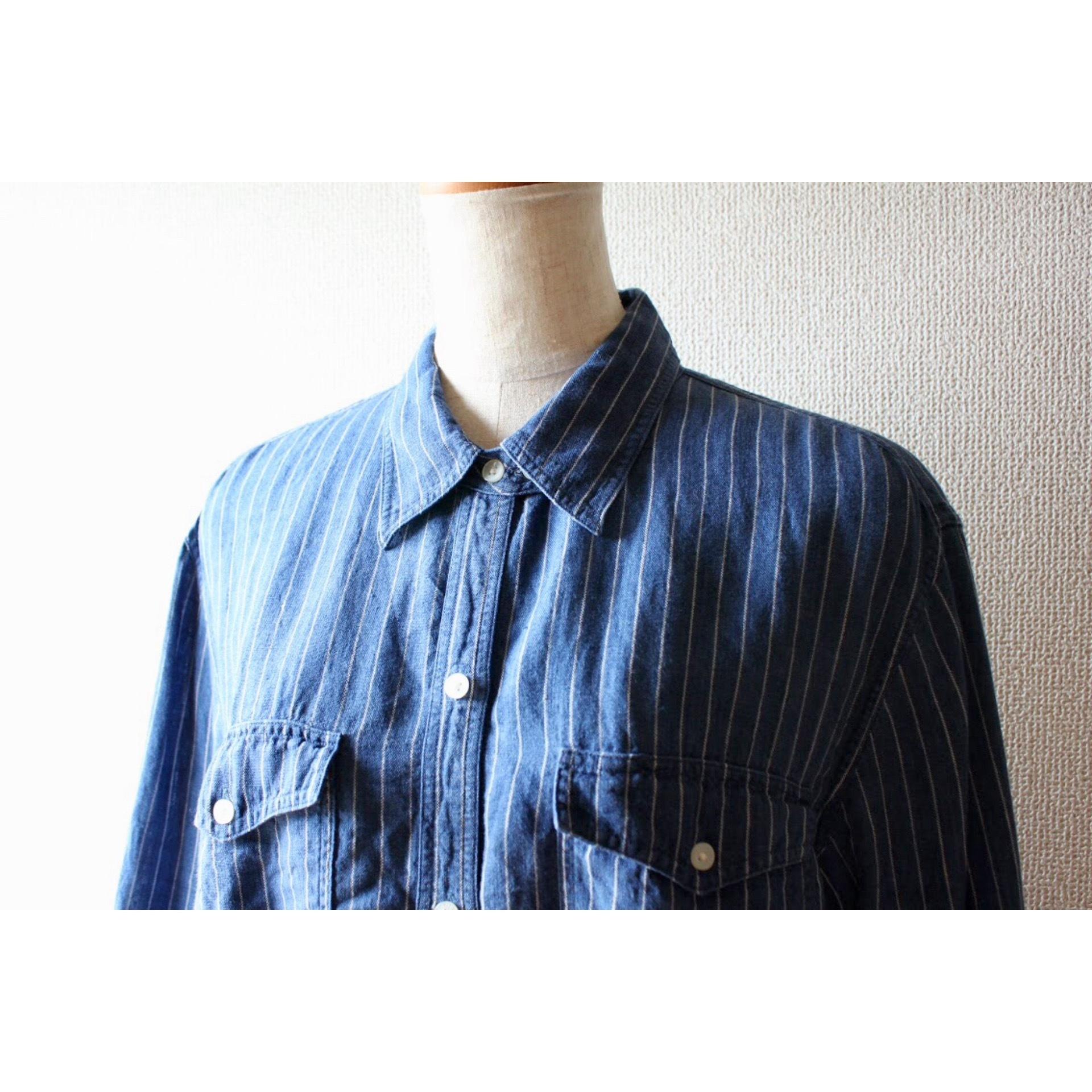 Vintage linen stripe shirt