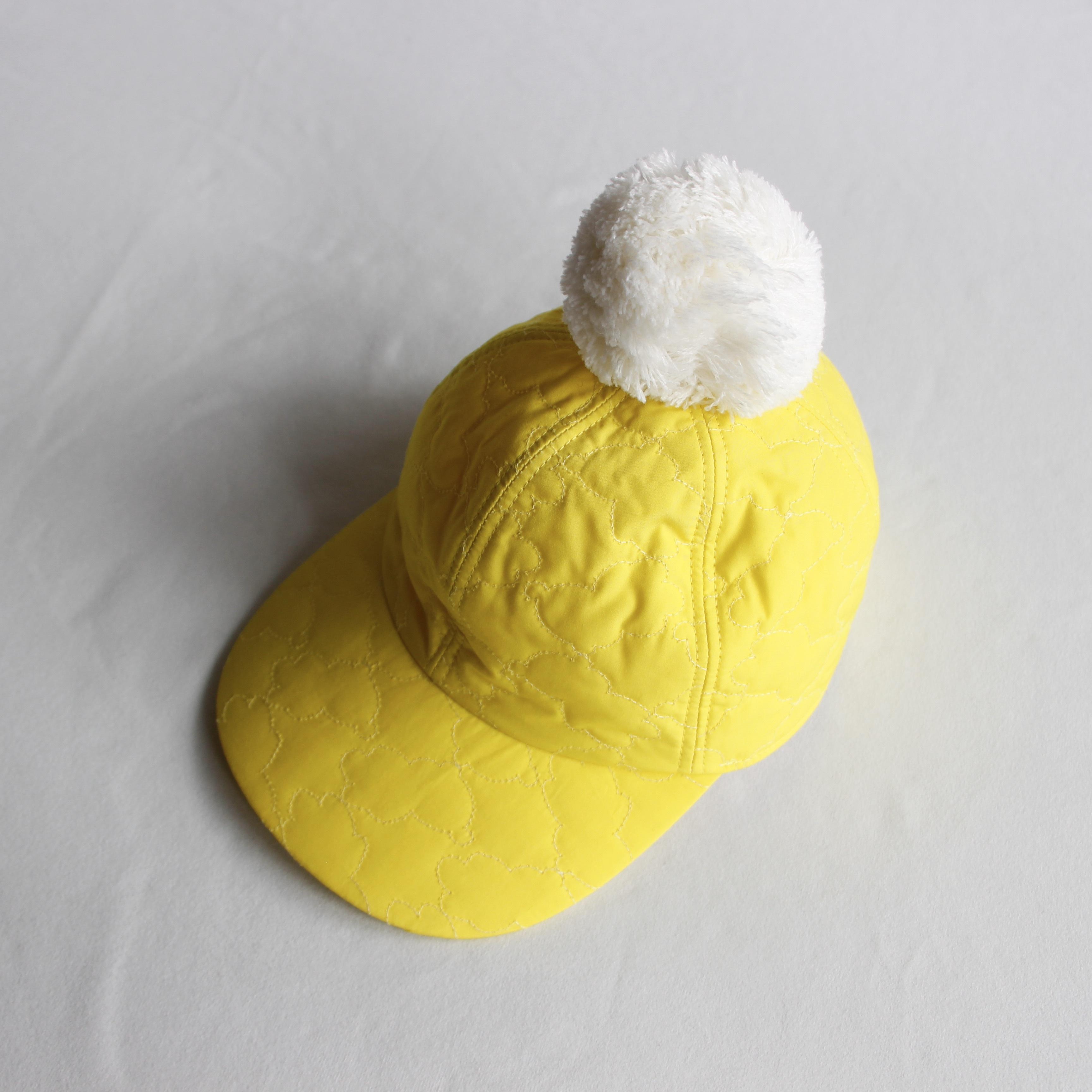 《frankygrow 2020AW》BEAR QUILTING CAP +BONBON / yellow