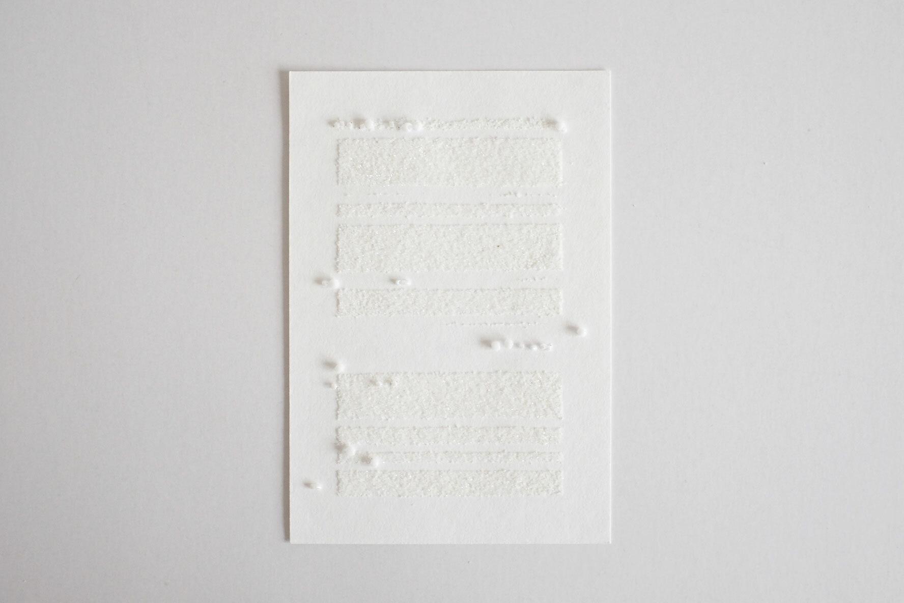 """Score for snow(Card) """"雪のうたのための楽譜(カード)"""""""