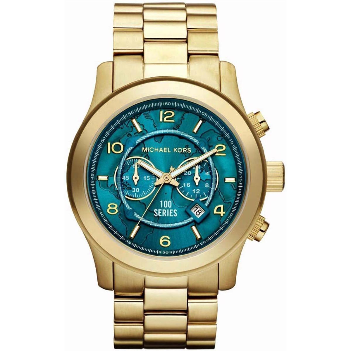 Michael Kors 人気のターコイズ腕時計 MK8315