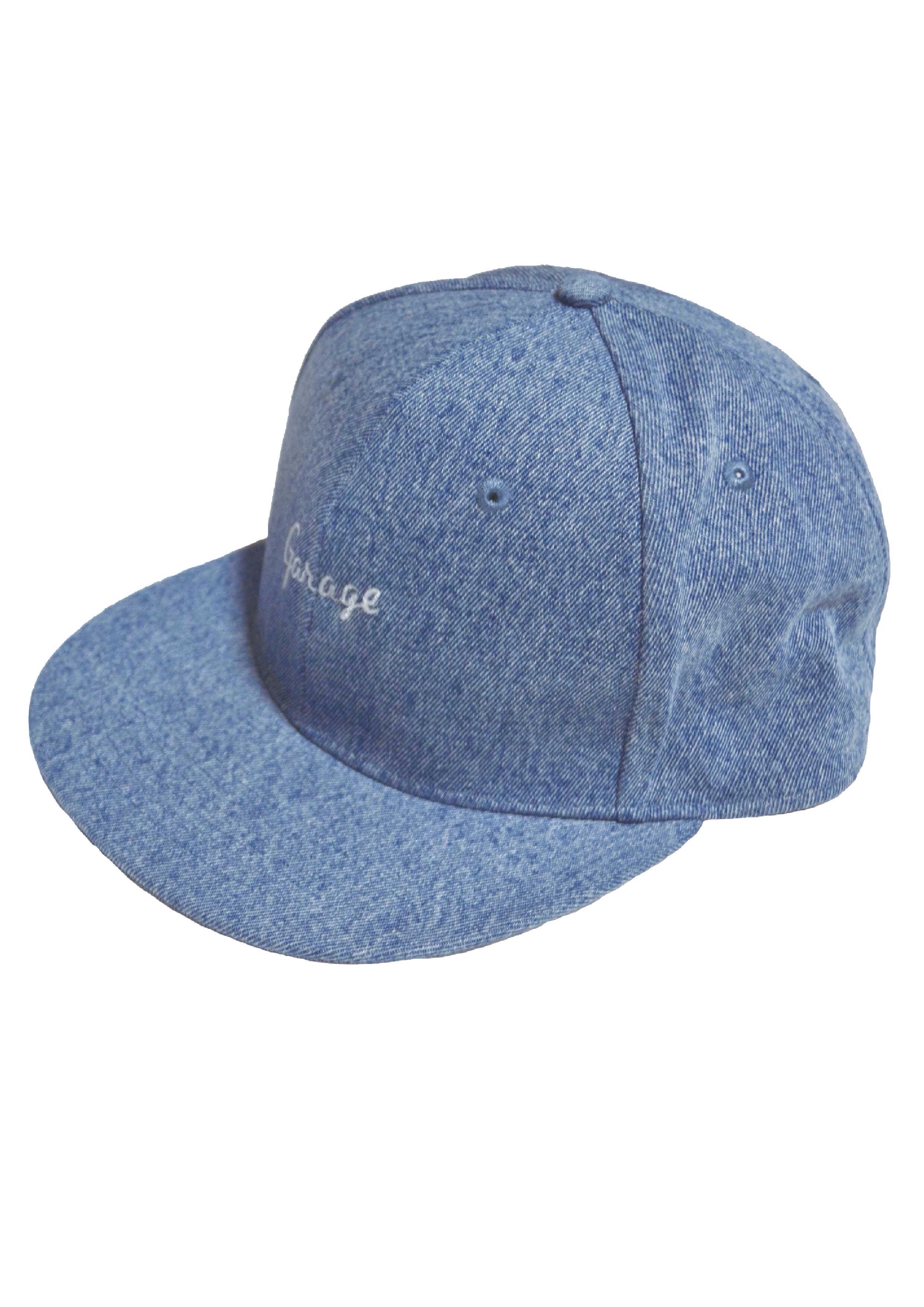 DENIM FLAT VISOR CAP  L.Blue