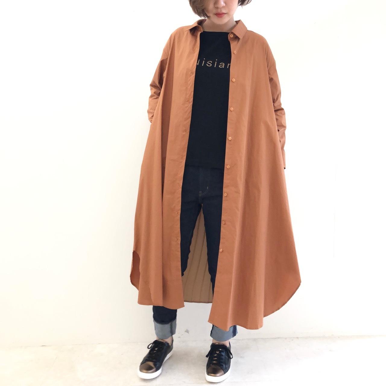 【 ROSIEE 】- 952-95079 - バックプリーツロングシャツコート