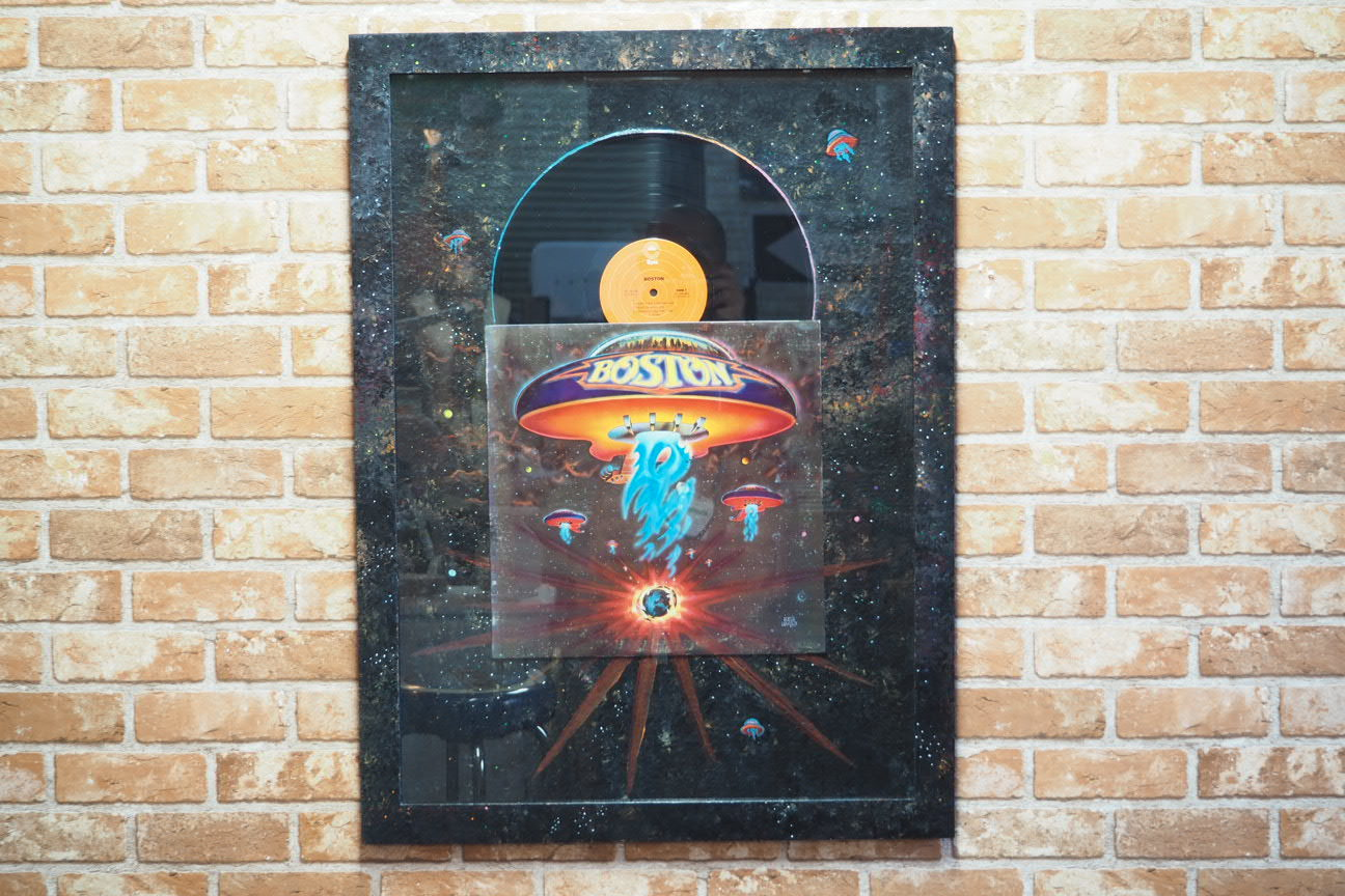 品番0436 レコードアート BOSTON