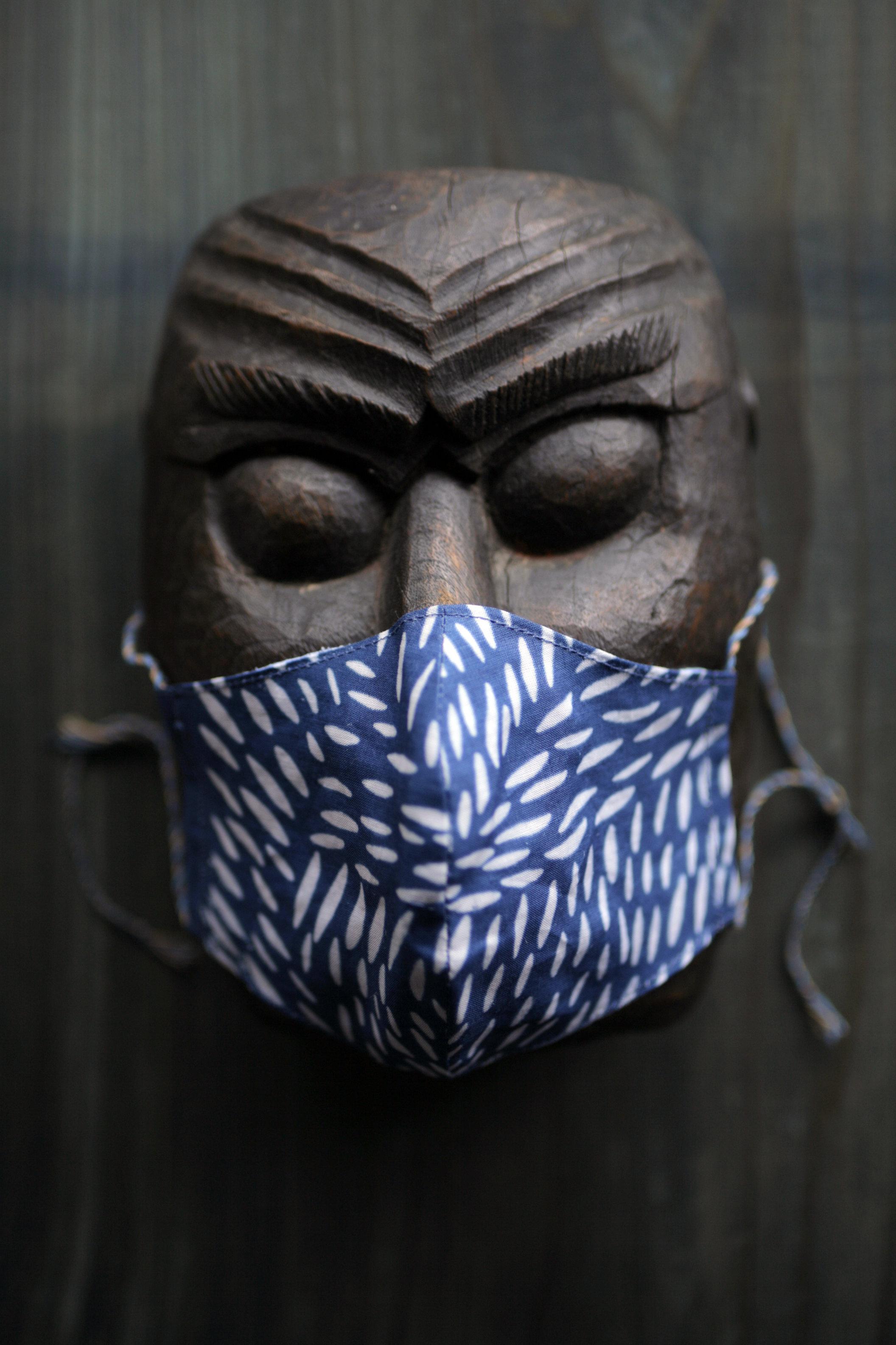 獣毛文様マスク