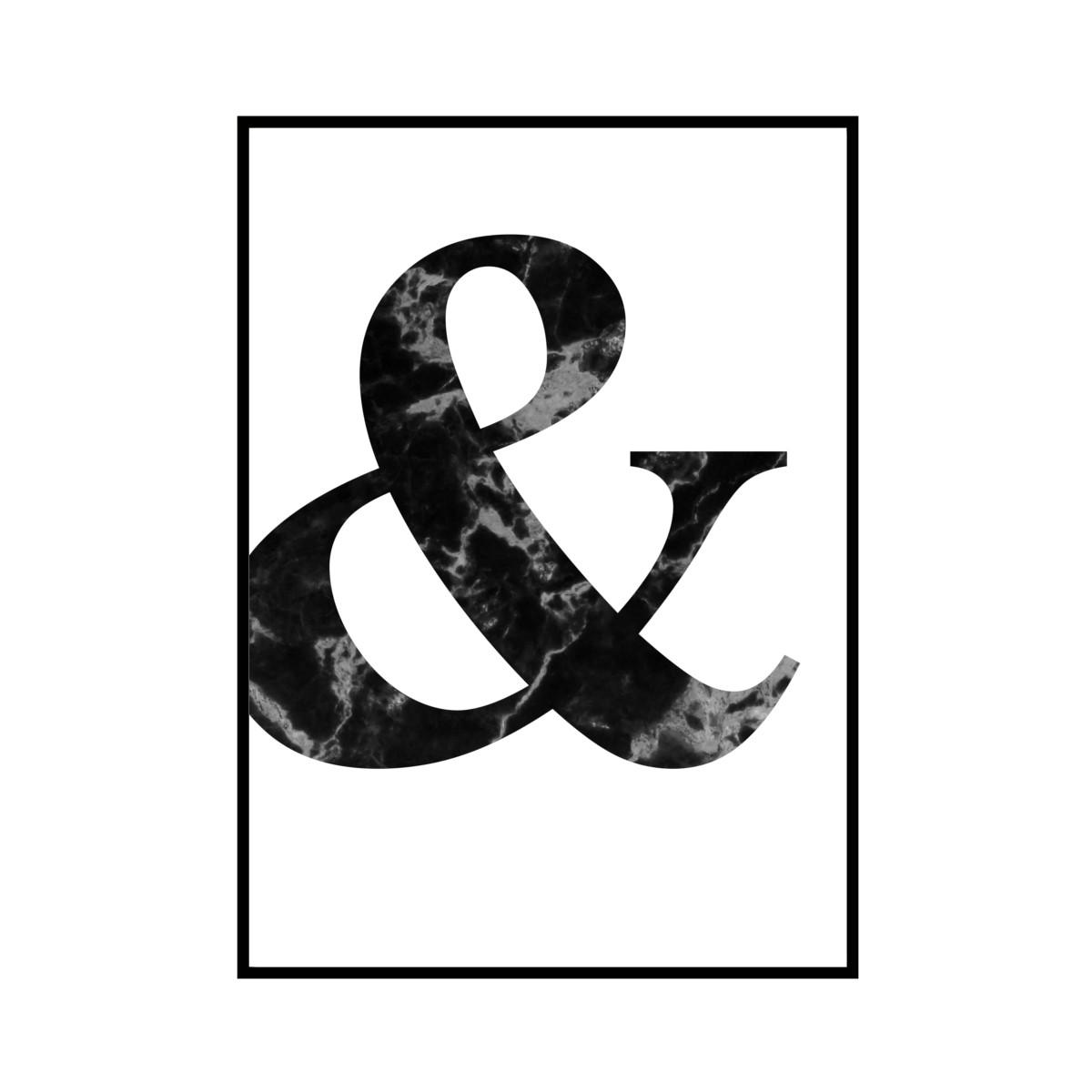"""""""&"""" 黒大理石 - Black marble - ALPHAシリーズ [SD-000501] B4サイズ ポスター単品"""
