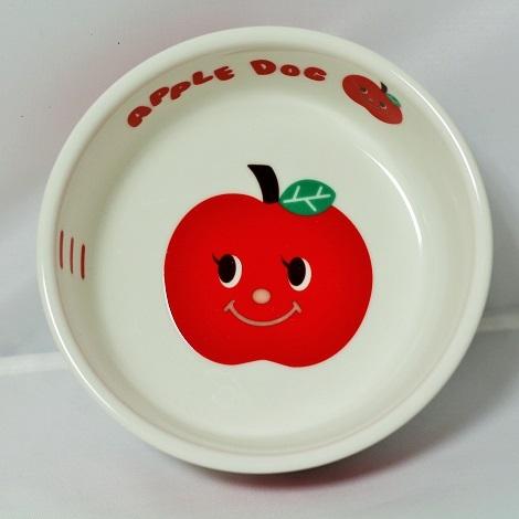 フード皿 (アップルドッグ 赤)