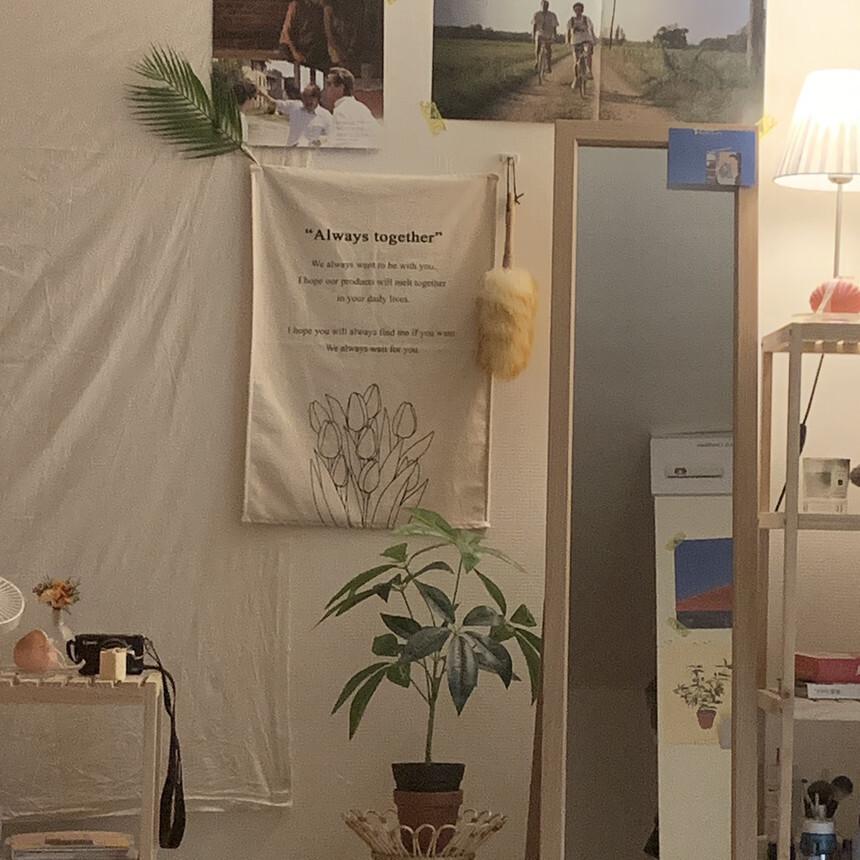 ファブリックポスター × ポストカードセット(チューリップ)